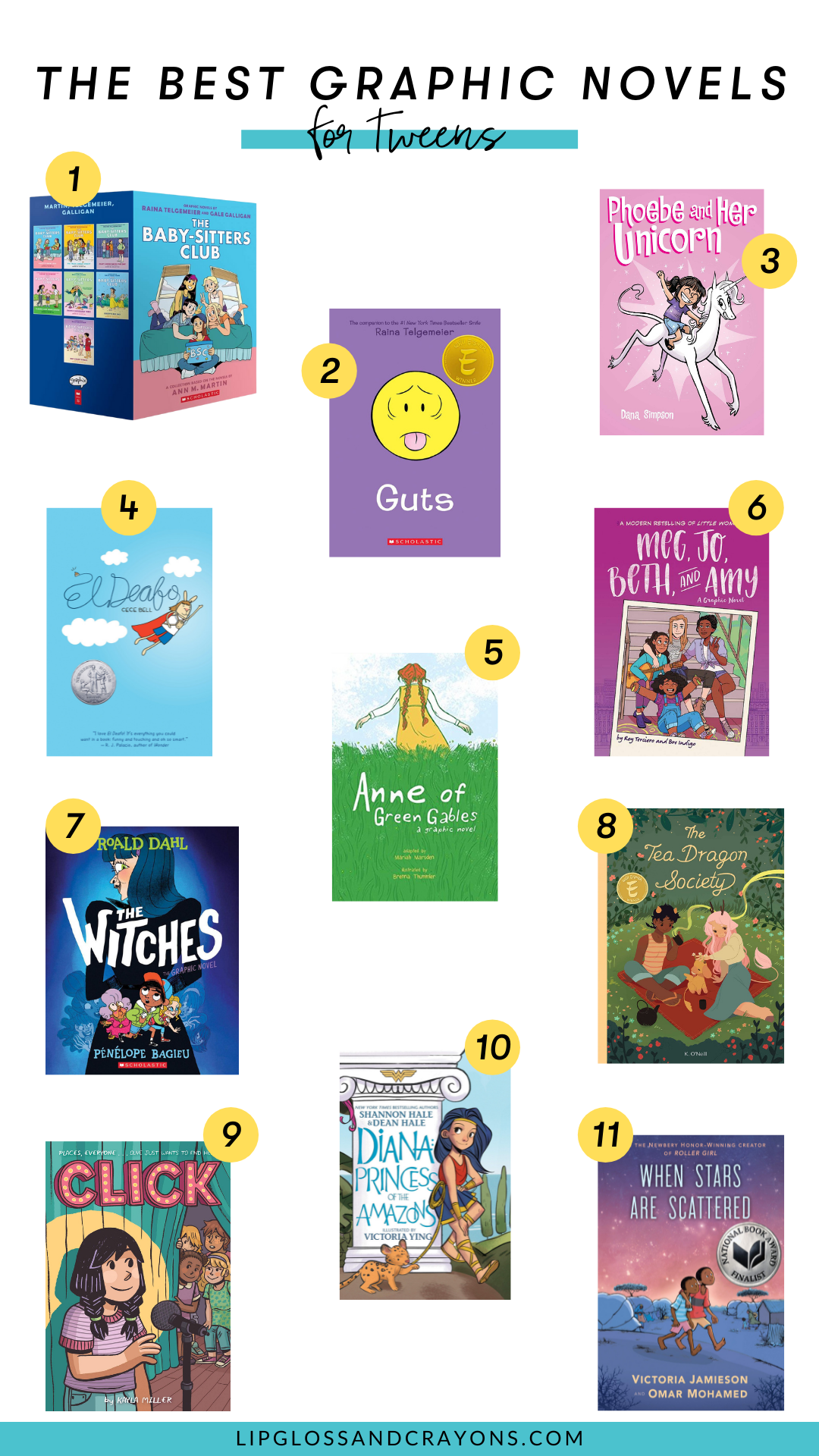 Looking for recommendations for some great graphic novels for tweens? This list is perfect!