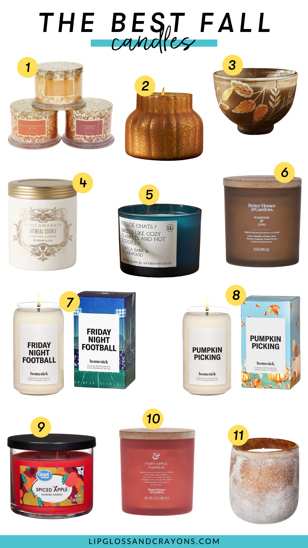 Looking for the best fall scented candles? From pumpkin spice to apple cider, this is the ultimate list!