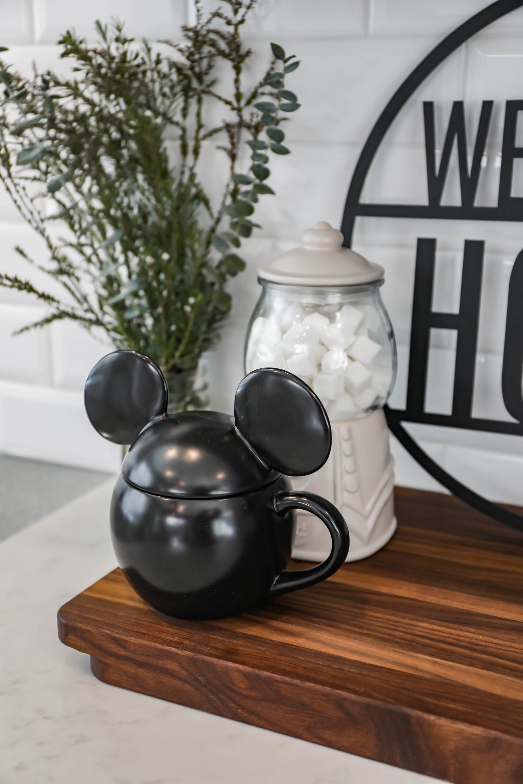 This home coffee station is just adorable!