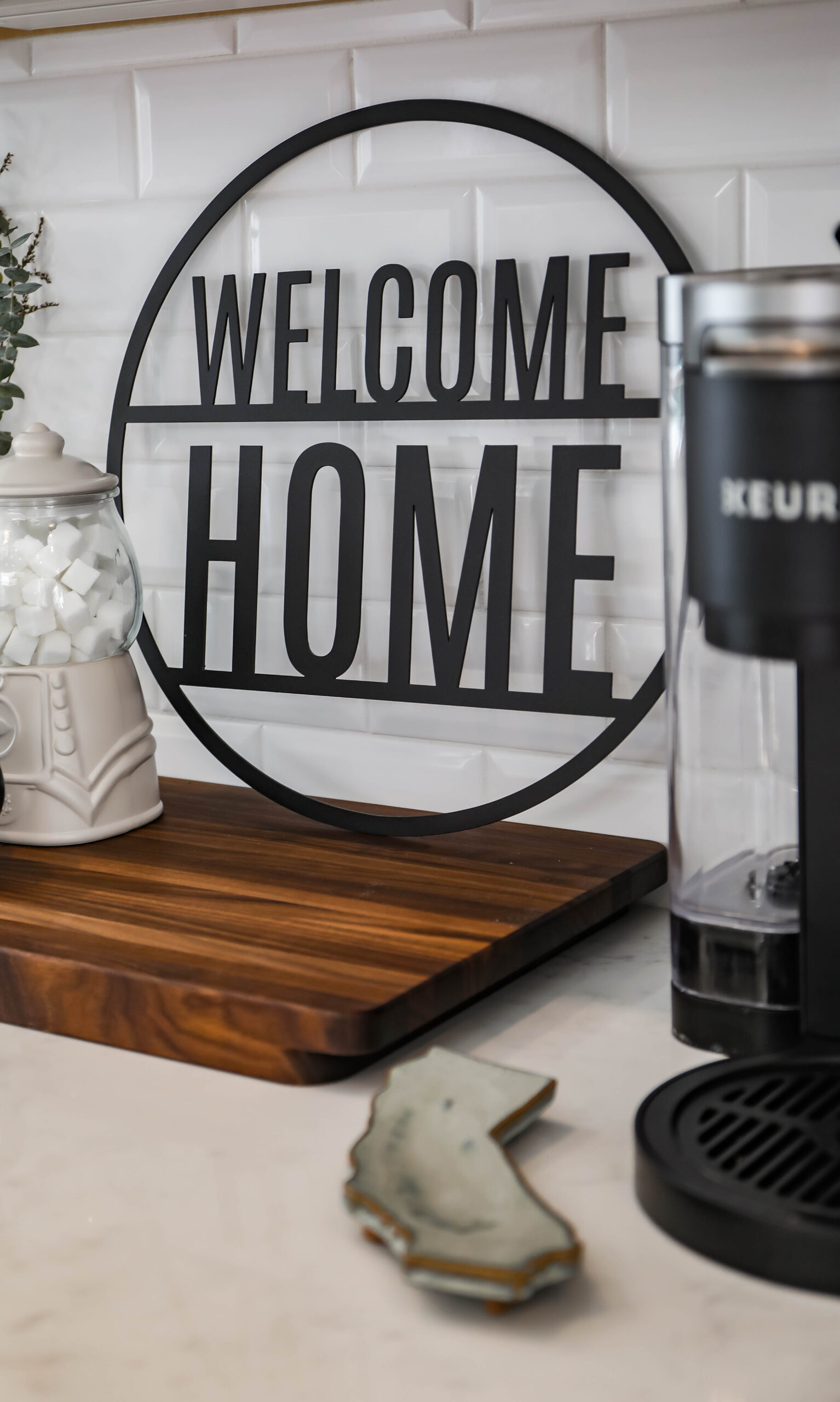 Want to create a simple home coffee station? This is our diy coffee station made with mostly items we already had at home!