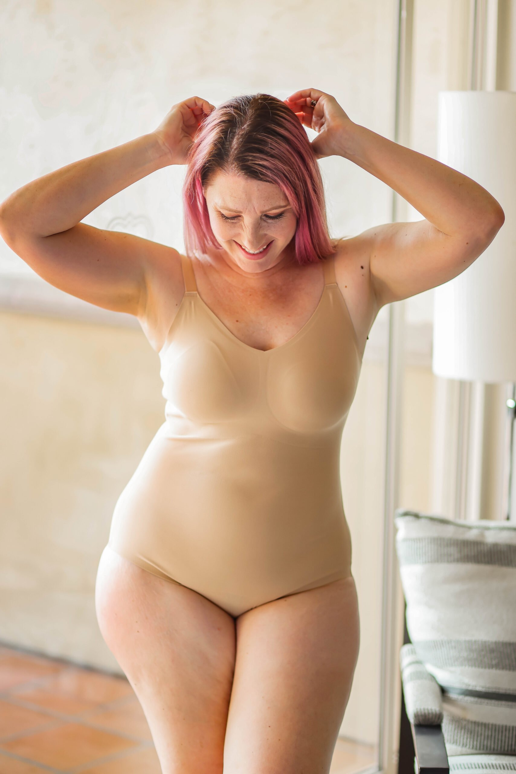 Best Shapewear for Dresses: This bodysuit has light compression and is SO comfortable!